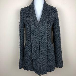 Yoana Baraschi gray wool blend cardigan size small